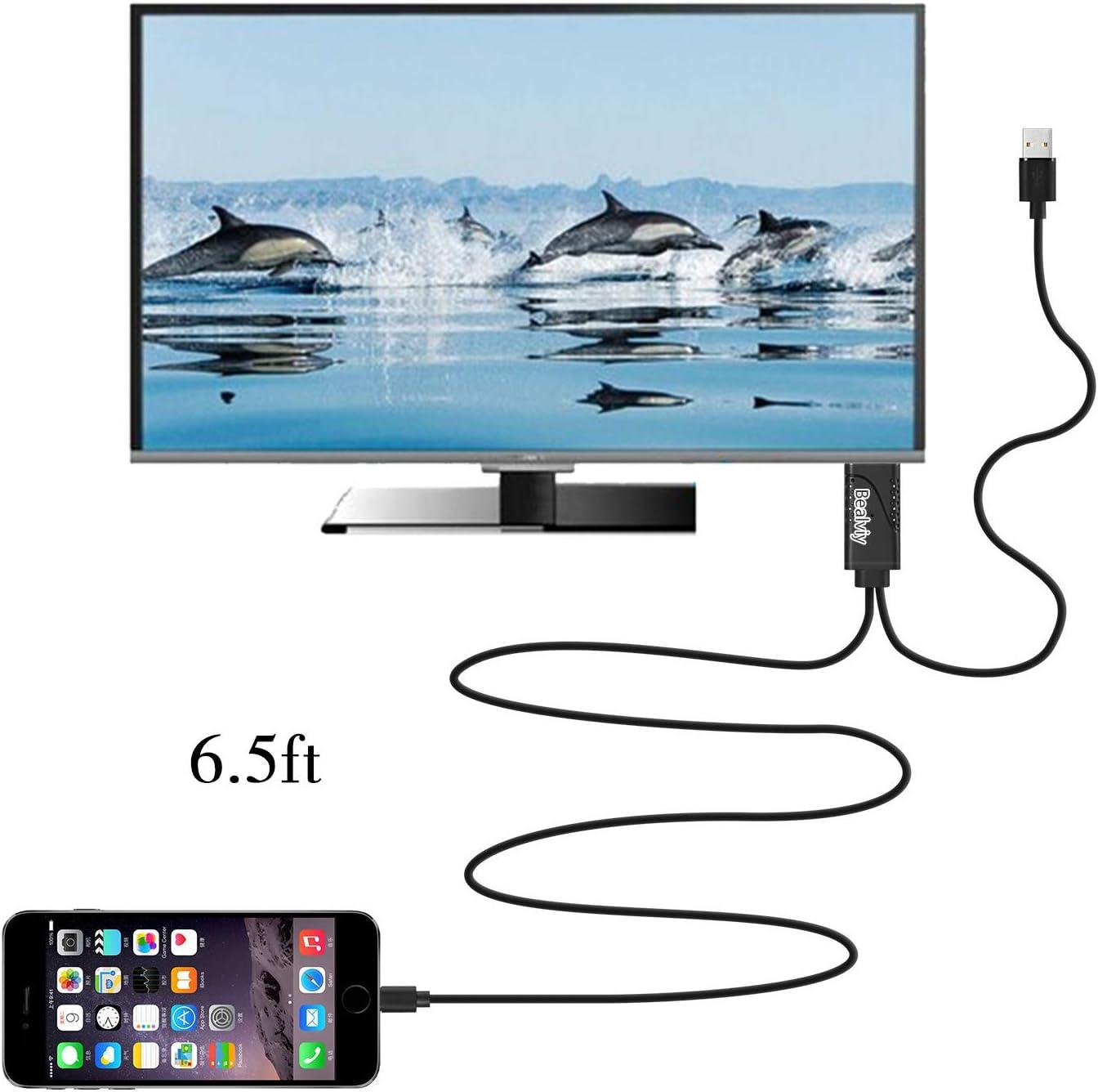 Pad Bealviy Cavo Adattatore Phone HDMI Pod a TV Proiettore Monitor Adattatore Phone a TV HDMI,1080P HDMI Adattatore AV Digitale HDTV SYNC Schermo per Phone XS Max XR 8 7 6 5