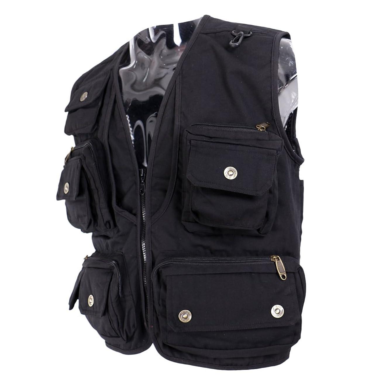 することになっているホバー最大Baosity 全4サイズ 釣り 登山 撮影 屋外ベスト ジャケット アウトドア メッシュ メンズ 大容量 軽量 速乾