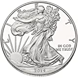 American Silver Eagle $1 Legal US Tender .999 Fine Silver Comes in soft plastic protective flip case Dated 2014