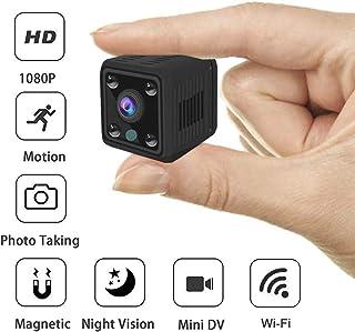 Mini Camara Espia Oculta HD 1080 - Cámara De Vigilancia Con Detector de Movimiento Vision Nocturna IR Microfono y Grabacion en Micro SD - Camara de Seguridad Interior. Mini Spy Cam