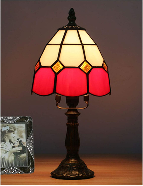 Xiuxiu Xiuxiu Xiuxiu Europäische Kreative Retro Glasmalerei Tischlampe Schlafzimmer Nachttischlampe Esszimmer Wohnzimmer Bar Dekoration Tischlampe (Farbe   rot) B07J6PFRRY  | Moderate Kosten  37d92d