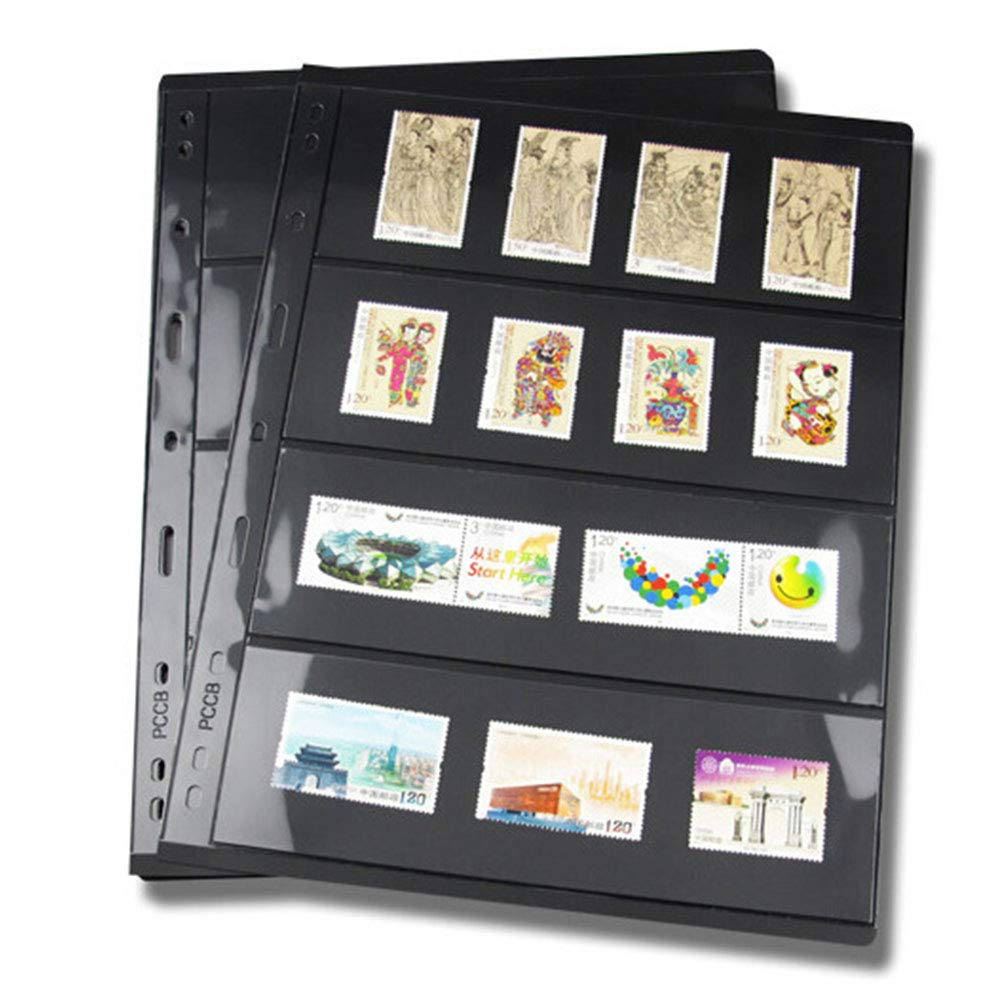 10 páginas de sellos para álbum de hojas, hojas sueltas de PVC, soportes de sellos para papel, dinero, fotos, colector, no incluye funda, As Picture Show, D: Amazon.es: Hogar