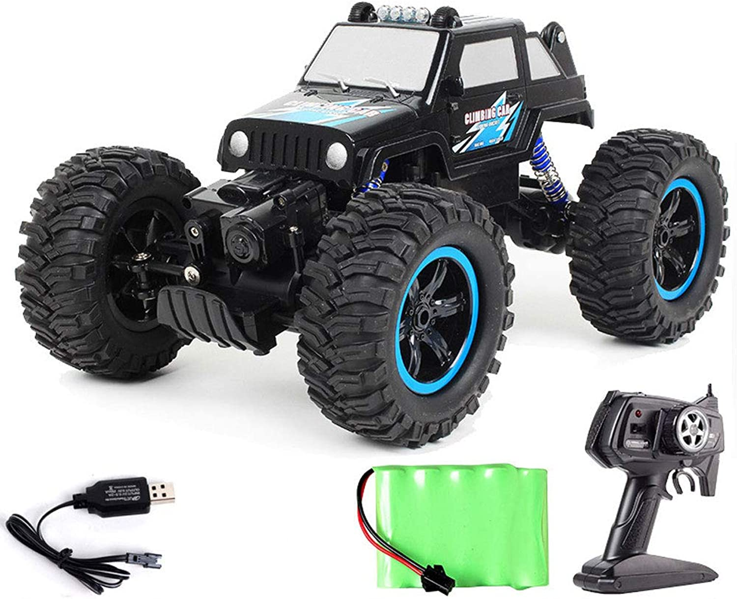 YYD Highspeed offroad remote control car  large tires, front and rear fourwheel drive, with stronger climbing ability,2836bluee