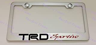 Billion_Store TRD Sportivo Tundra Red Stainless Steel License Plate Frame Rust Free W/Caps The Best Accessories for Auto-Tuning