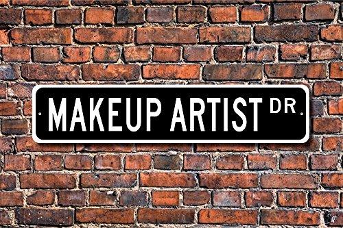 Make-up Künstler Schild Movie Studio Theater TV Zeigt Custom Art Wand Schild DEKO Post Street Sign 45x 10cm