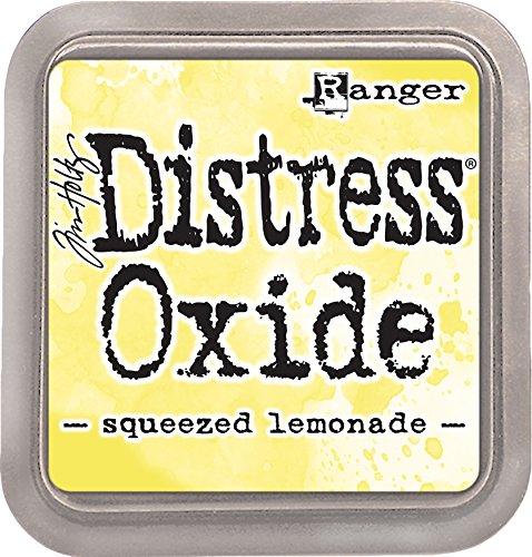 Ranger TDO56249 Tim Holtz Distress Oxide Ink Pad Squeezed Lemonade, Matériau synthétique, Jaune, 7,5 x 7,5 x 1,9 cm