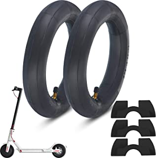Blulu 2 Pair 8.5-Inch Thickened Inner Tubes for Xiaomi M365 Electric Scooter Inflated Spare Tire 3 Pieces Rubber Vibration Dampers Electric Scooter Replacement Accessory