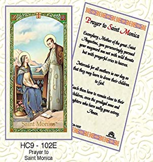 St. Monica Paper Prayer Cards - Pack of 100 - HC9-102E-L