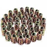 Hseamall 50pcs vis à six pans creux en alliage de zinc de M8 d'alliage d'écrou vis-écrous pour les meubles en bois