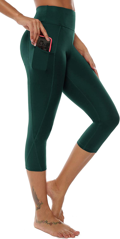 AOOM Industry No. 1 Capri 3 4 Yoga Pants Max 60% OFF Leggin Sides High Workout Waist Pocket