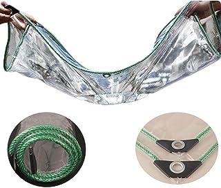 YLJYJ Lona Transparente Impermeable Tela de plástico Pesado Ventana Protección contra la Lluvia Almohadilla a Prueba de Humedad PVC Grueso, 22 Tamaños (Color: Transparente, Tamaño: 1.8x3m)