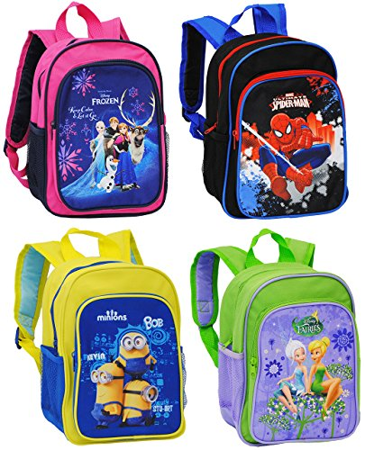 Belldessa Rucksack für Kinder -  Disney Fairies - Tinkerbell  - Tasche - Kinderrucksack - beschichtet & wasserfest / groß Kind - Mädchen - z.B. für Vorschule / Schule..