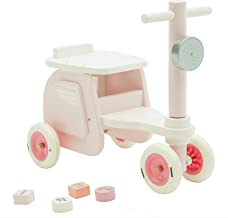 【New】labebe - Kid Ride On Pink, Ride-On Motorcycle for Baby 1-3 Years Old, Boy&Girl Sit Ride Push Toy, Wooden Motor Ride, Child Wood Balance Bike,Indoor&Outdoor Walker Toy Ride, First Birthday Gift