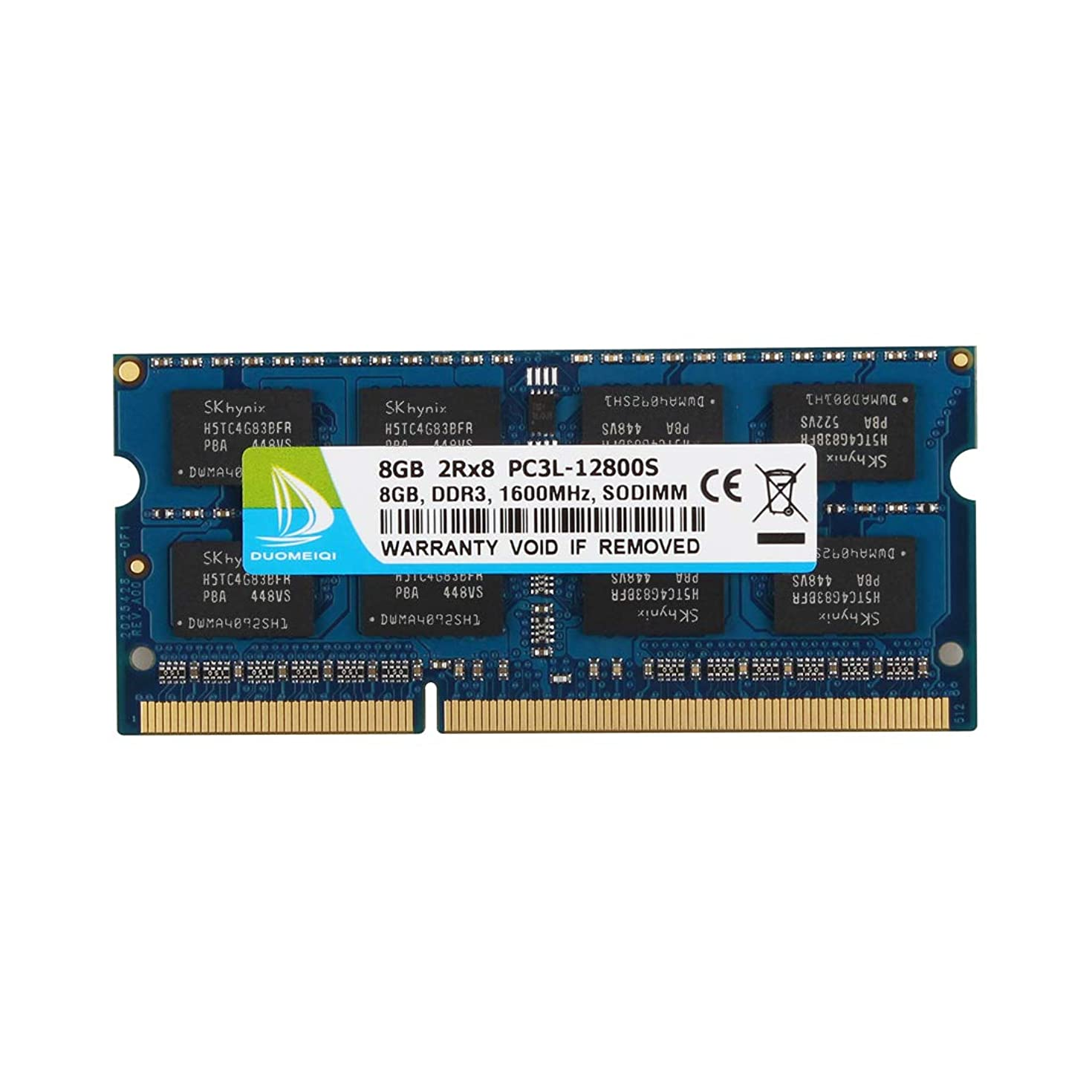 DUOMEIQI 8GB DDR3L 1600MHz SODIMM PC3L-12800 PC3L-12800S 2Rx8 1.35V / 1.5V CL11 204 Pin Non ECC Unbuffered Laptop Notebook Computer Memory Ram Module for Mac, Intel and AMD System