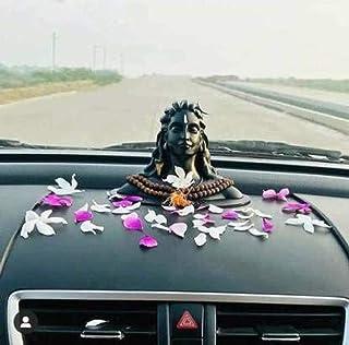 Kmnrb Polyresin Adiyogi Lord Shankar/Mahadev Murti Shiva Idol - Matte Black, 16.5 cm x 11 cm x 13 cm   Made in India