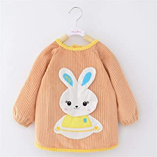 0-3 Years Old Baby Eating Clothes Waterproof Long-sleeved Anti-dress Bib Thickening Crystal Velvet Childrens Bib For Infan...
