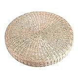 FOSA Cuscino da Pavimento Rotondo 40cm Pouf Tatami Cuscino da Pavimento Stuoia da Meditazione in Paglia Morbida