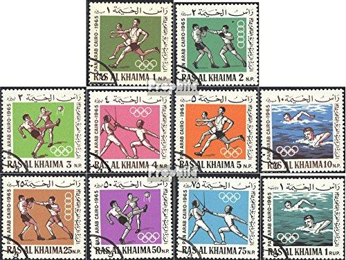 Prophila Collection RAS al Khaimah 37A-46A (Completa Edizione) 1966 Pan-araba Giochi Sportivi (Francobolli per i Collezionisti) Sport da Combattimento