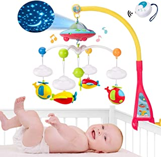 JAMIE Baby Crib Mobile with Lights and Music,Star Projection, 108 Music Songs and Hanging Rotating Toys for Boys Girls