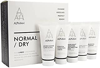 Alpha H Skin Solution Kit - Normal/ Dry Cleanser 30ml & Scrub 30ml and Mask, 5 count
