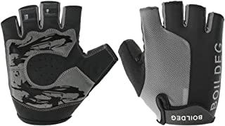 Cycling Gloves Half Finger Gel Padded Bike Gloves Shock Absorption Mountain Bicyle Gloves Climbing Glvoes Anti-Slip Fitness Gloves for Men and Women