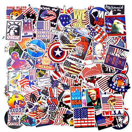 100 PCS Trump Stickers USA Funny Cartoon Comic Style Vinyl Decals for Luggage Laptop Fridge Car Water Bottle Bike