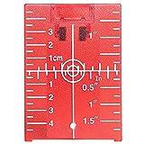 Tarjeta de placa de objetivo láser para piso Huepar TP01R-Magnetic con soporte para aplicaciones de haz de luz roja Mejorando la visibilidad de líneas de láser rojo o puntos 1.3 veces