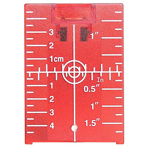 Huepar TP01R-Magnetic Floor Laser Target Plate Card with Stand for Red Beam Applications Enhancing The Visibility of Green Laser Lines or Points 1.3 Times