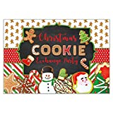 Funnytree 7x5ft Christmas Cookie Exchange Party Backdrop Children Activity Photography Background Baby Merry Xmas Snowman Santa Claus for Kids Nursery Cake Table Decor Banner Photo Booth Studio