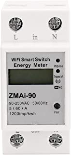 Tykeed Single Phase Din Rail Wifi Intelligent Energy Meter Power Consumption Kwh Meter Wattmeter Support Smartlife/Tuya Ap...