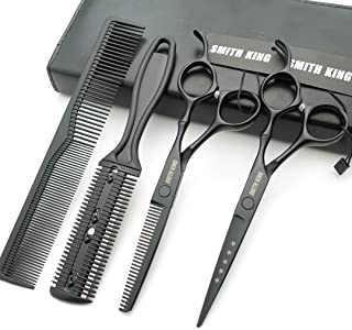 Hair Cutting Scissors Set with Combs Lether Scissors Case,Hair cutting shears Hair Thinning shears For Personal and Profes...