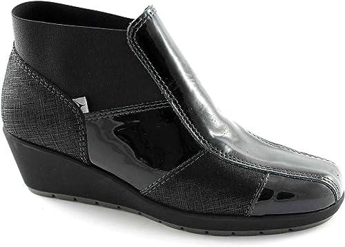 Cinzia Soft 8679 8679 Chaussures Noires Femme Cheville Confort zeppetta  prendre jusqu'à 70% de réduction