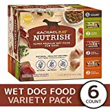 Rachael Ray Nutrish Natural Premium Wet Dog Food, Savory Favorites Variety Pack, 8 Oz. Tub (Pack Of 6)