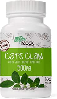 Kapok Naturals Uña de Gato or Cat's Claw Capsules. 500mg Cats Claw Herb for Joint Inflammation, Joint Pain Relief and Digestive Support. 100x500mg UNA de Gato Capsules