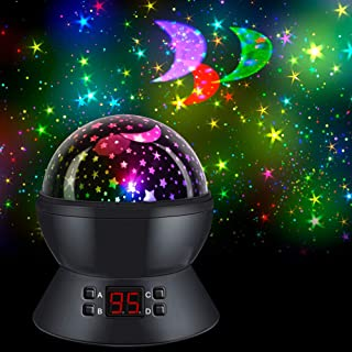 Star Projector Night Light with 360-Degree Rotating/Timer, SCOPOW Kids Star Night Light..