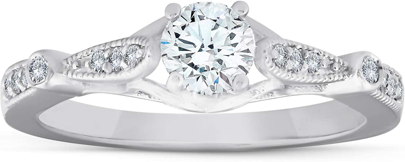 5 Factory outlet Max 75% OFF 8ct Diamond Vintage Ring 950 Engagement Platinum