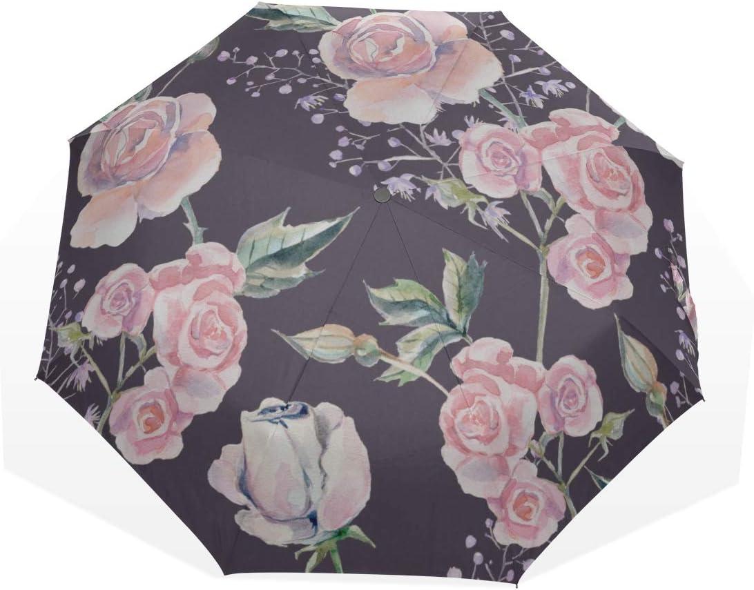 Umbrella Folded Rose Import Floral Beautiful Umb Flowers Inexpensive Windproof Mens