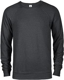 Men's Fitted Lightweight Raglan Crew Neck Sweater Sweatshirts French Terry Crewneck Sweatshirts for Men