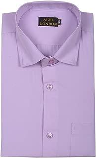 ALEX LONDON Formal Shirt for Men (Solid, Mauve Color, Regular Fit)