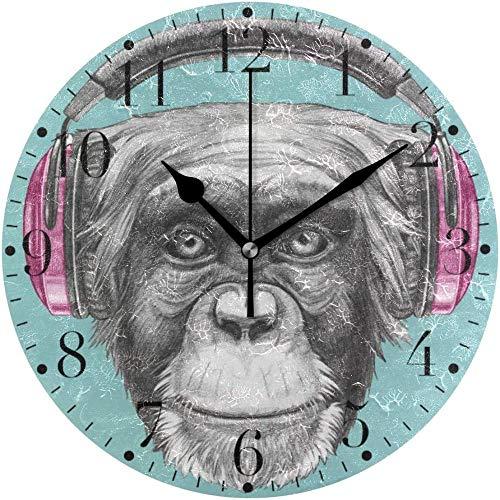 AZHOULIULIU Co.,ltd Mono con teléfonos Reloj de Pared Redondo Cocina Dormitorio Sala de Estar Aula Reloj de Oficina