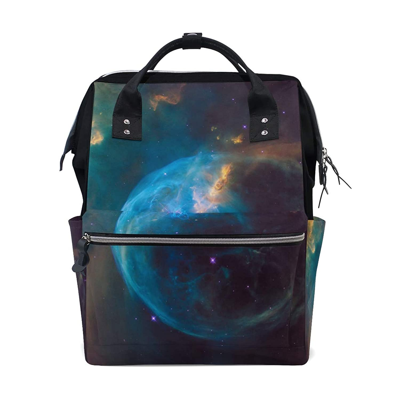Backpack Blue Galaxy Space School Rucksack Diaper Bags Travel Shoulder Large Capacity Bookbag for Women Men