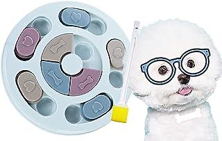 ノーズワークパズル ノーズワークおもちゃ フード隠しおもちゃ ストレス解消 ペット用品 ペットフード隠し 犬おもちゃ おやつ入れ 餌入れおもちゃ ノーズワーク ペットおもちゃ 犬 猫 知育玩具 嗅覚訓練 (ブラシ1本付きブルー丸形)