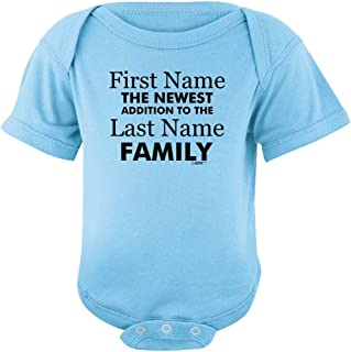 Personalized New Baby Name Family Custom Bodysuit