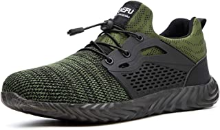Safety Work Steel Toe Sneakers,Work Shoes Indestructible Shoes for Men Women Lightweight Mesh Breathable Safety Industrial Construction Indestructible Shoes