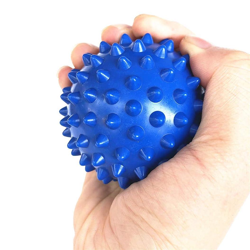 社交的休憩自分自身Tyou ラクロスボールテンションリリースマッサージボールのための足のマッサージボールのためのMyofasicalボールの運動ボールの青