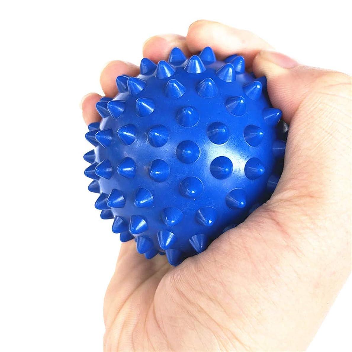 ミキサーマラソン悩むTyou ラクロスボールテンションリリースマッサージボールのための足のマッサージボールのためのMyofasicalボールの運動ボールの青