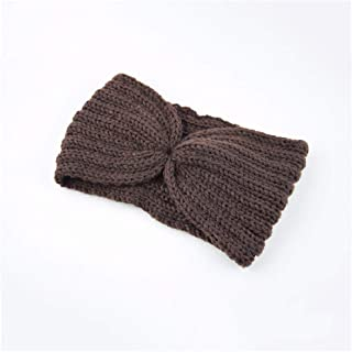 Women Knitted Headband Winter Soft Wool Cross Twisted Hair Band Haar Accessoires Color Head Wrap Hair Bands,A10