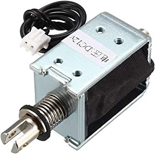 Linear Motion uxcell DC 12V 3mm//35g 4mm Push Pull Type Mini Solenoid Electromagnet Open Frame