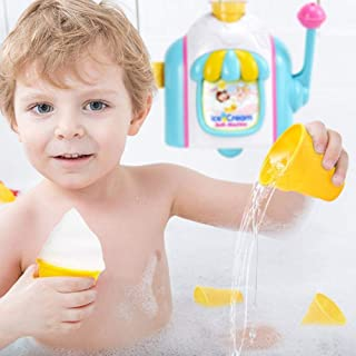 Intenst Foam Ice Creams Factory Baby Bath Toy Ice Cream Maker Bubble Foam Play Machine Shower Baby Kids Toy Stunning