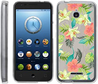 TurtleArmor | Compatible with Alcatel Acquire Case | Streak Case | Ideal Case [Flexible Armor] Ultra Slim Flexible Clear TPU Case Fitted Soft Bumper Cover Girls - Hawaiian Flowers